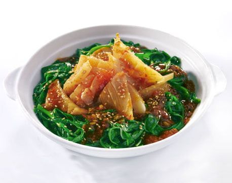 Blanch Kang Kong with Cuttlefish