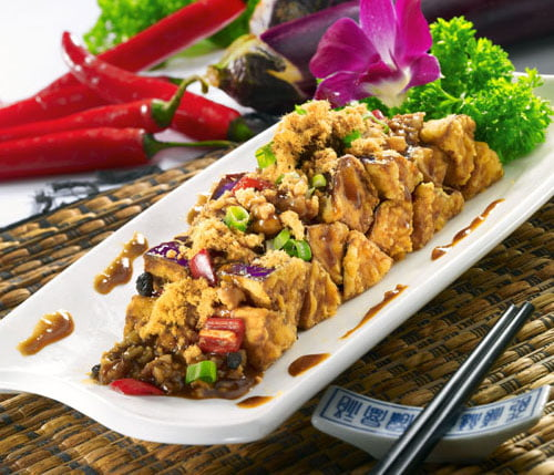 Fried Eggplant with Minced Pork