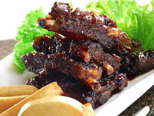 Fried Spare Ribs with Zhen Jiang Sauce