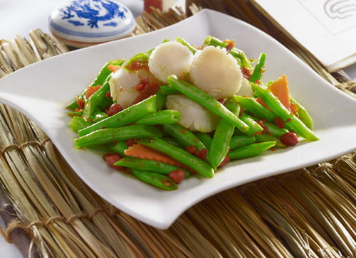Fried French Bean and Scallops with Spicy XO Sauce